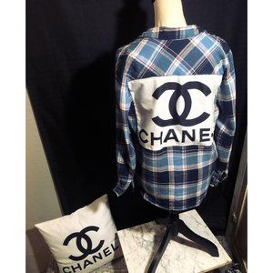 William Rast x Chanel Button Front Flannel Shirt